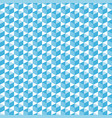cubic isometric shapes in blue halftone seamless vector image vector image