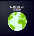 earth hour 60 minutes vector image vector image