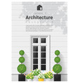 elements of architecture window background 20 vector image vector image
