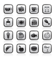 Food and Drink and beverage icons vector image vector image