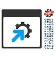 Gear Integration Calendar Page Icon With vector image vector image