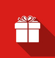 gift box icon isolated with long shadow vector image