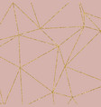 gold glitter geometric pattern on rose gold vector image