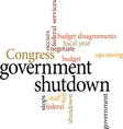government shutdown vector image