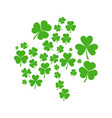 green shamrock made of shamrocks vector image