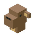head sheep modular animal plastic lego toy blocks vector image