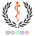 healh care emblem flat icon