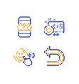 heart customer satisfaction and star icons set vector image vector image