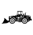 heavy equipment loader vector image vector image