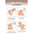 how to use a hand antiseptic to clean