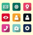 icon pack home icon telephone icon mail icon vector image vector image