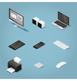 Isometric digital set vector image