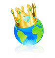 king of the world concept vector image vector image
