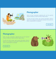 landscape and animal photographers web banners vector image