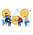 libra facebook cryptocurrency and bitcoin vector image