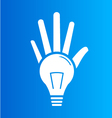 Light Bulb hands vector image