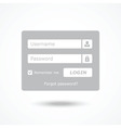 Login box vector image