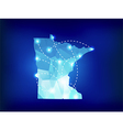 Minnesota state map polygonal with spotlights vector image vector image