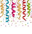 multicolor curling streams and confetti vector image vector image