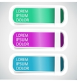 Multicolored Tab Banner Elements vector image vector image