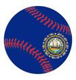 new hampshire flag baseball vector image vector image