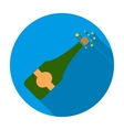 Opening of champagne icon in flat style isolated vector image vector image