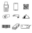 payment type icon set vector image vector image