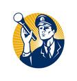 policeman security guard vector image