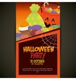 poster halloween party design isolated vector image vector image