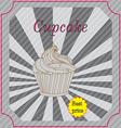 Retro cakes label vector image vector image