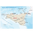 road map italian island sicily vector image vector image
