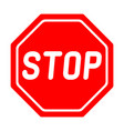 road sign stop on white background vector image