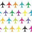 seamless pattern with colored planes vector image vector image