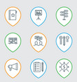 set of 9 project management icons includes money vector image vector image
