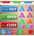 Set of business labels and tags vector image