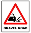 Set of variants a Blowout of gravel - road sign