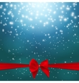 Star Shiny Sky with Ribbon and Bow vector image vector image