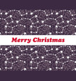 starry merry christmas vector image vector image