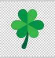 three leaf clover icon in flat style st patricks vector image vector image