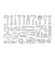 tools set icons in linear style repair vector image vector image