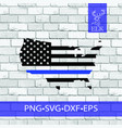usa flag map country shape pngsvgexfeps vector image