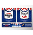 usa memorial day background vector image vector image