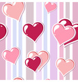 Valentine love stripped background vector image vector image