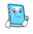 waiting education mascot cartoon style vector image vector image