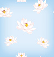Water lily pattern vector image vector image