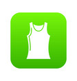 women t shirt icon green vector image