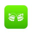 wooden beer mugs icon digital green vector image vector image
