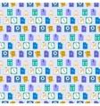 Seamless flat web icons and simbols pattern vector image