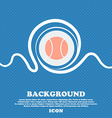 baseball icon sign Blue and white abstract vector image