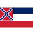 Flag of Mississippi vector image